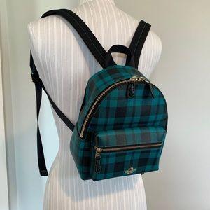 Coach Charlie Mini Plaid Backpack